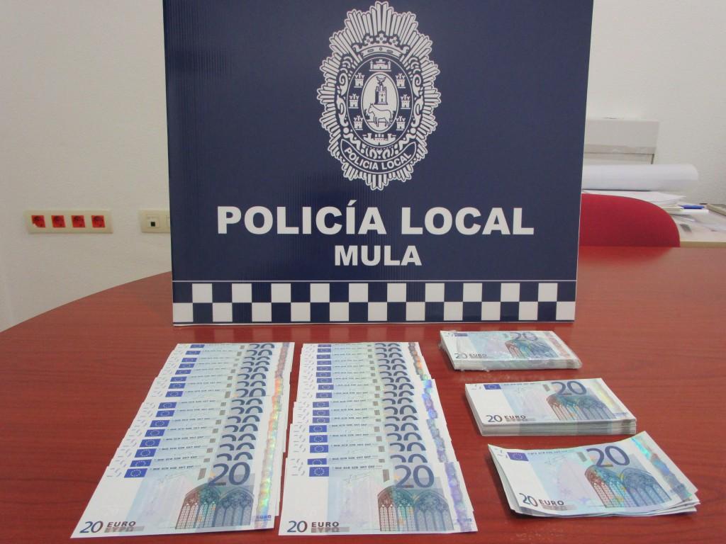 Billetes intervenidos por la Policía Local