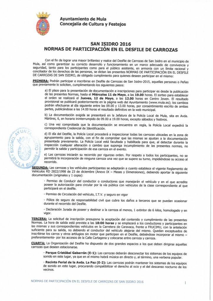 Normativa San Isidro 2016 (1)