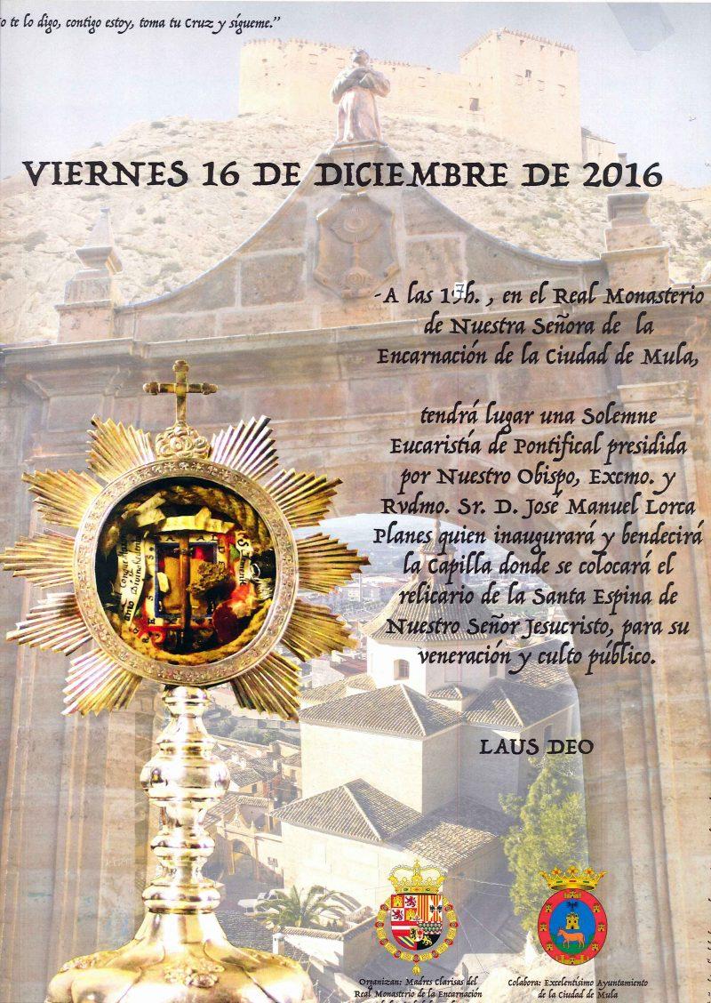 cartel inauguración capilla santa espina