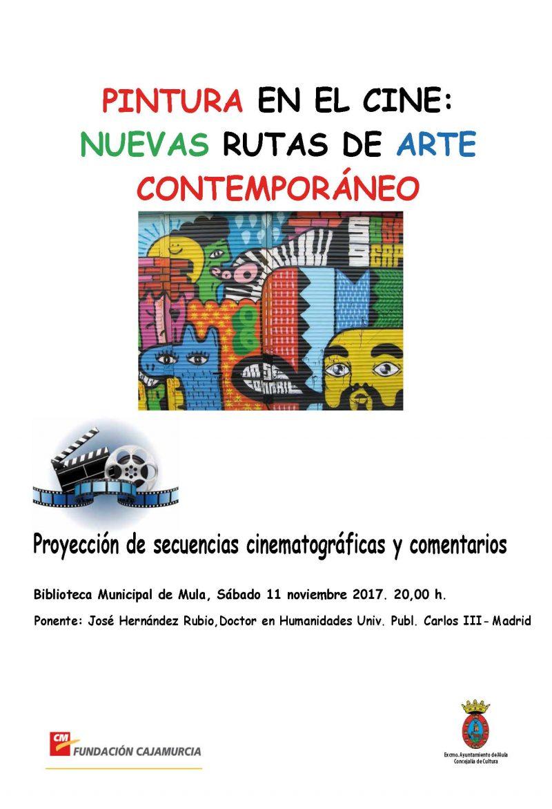 CARTEL CHARLA PINTURA EN EL CINE 2017