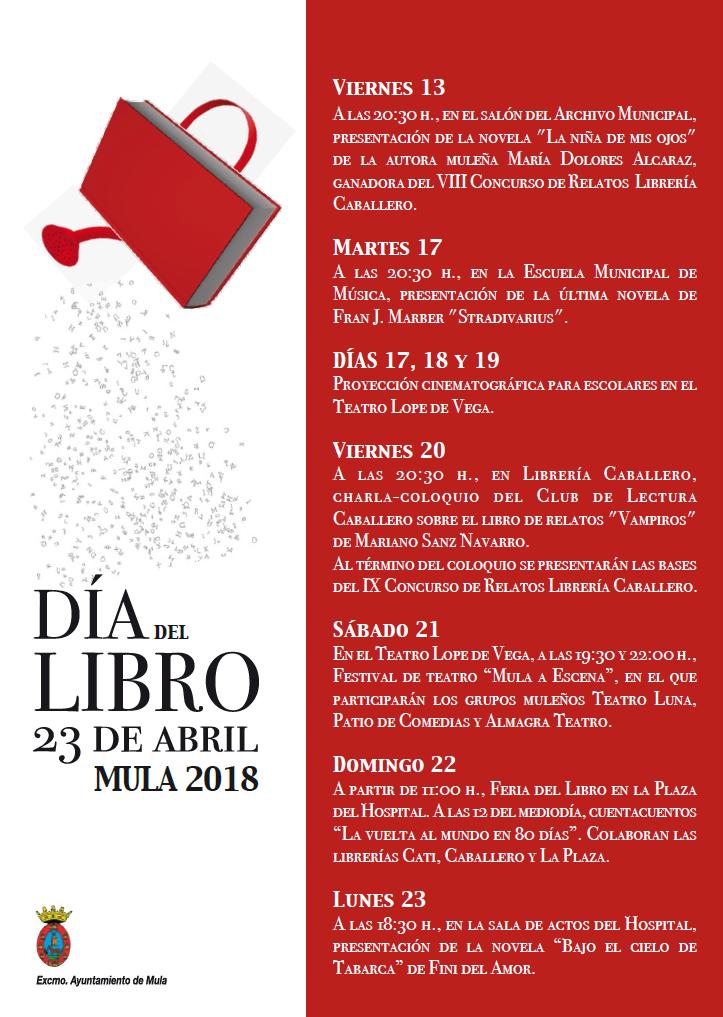 Actividades Día del Libro Mula 2018