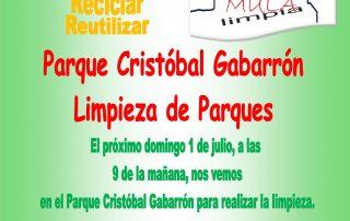 CARTEL CUIDA Y RESPETA TU CIUDAD PARQUE CRISTÓBAL GABARRÓN LIMPIEZA
