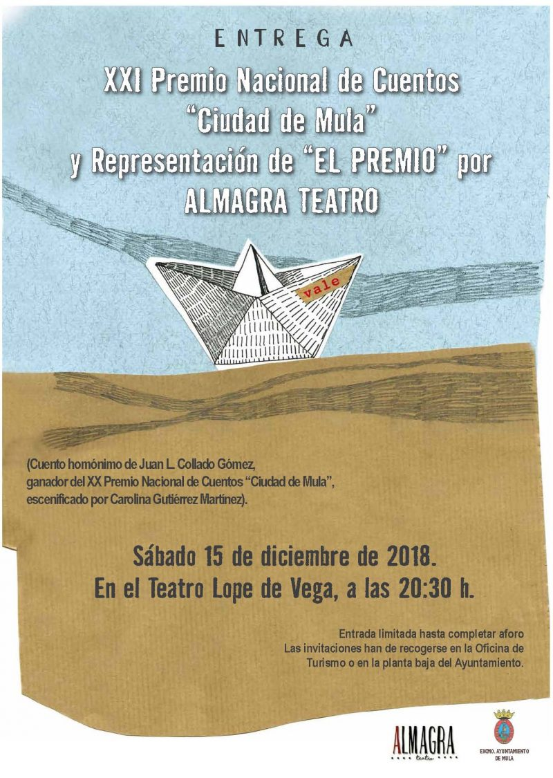 CARTEL ENTREGA PREMIO LITERARIO 2018