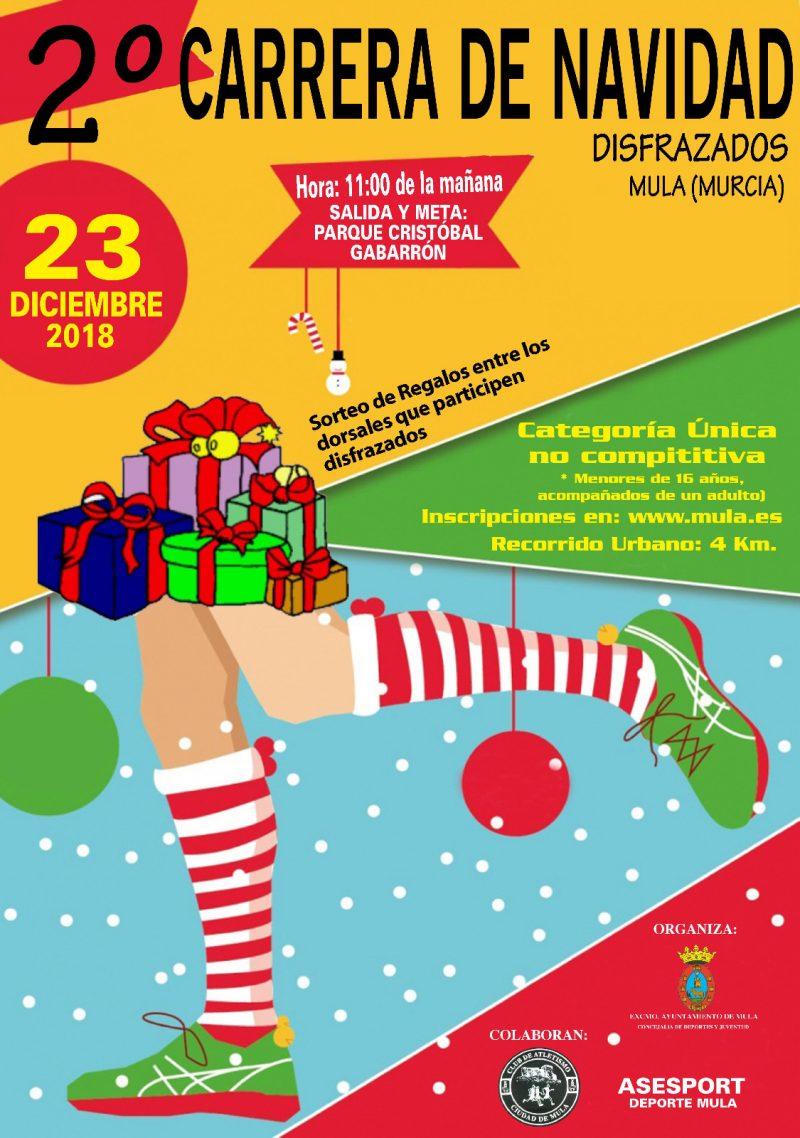 Cartel carrera navidad Mula 2018