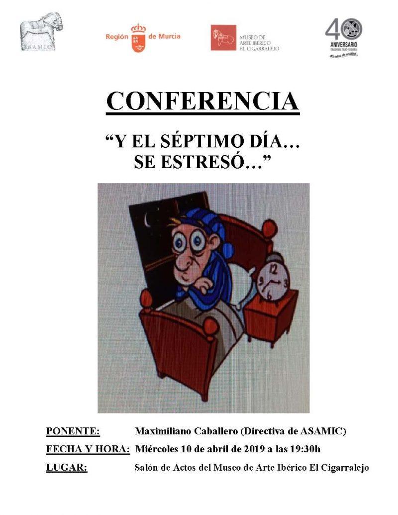 Cartel Conferencia Maxi Cigarralejo