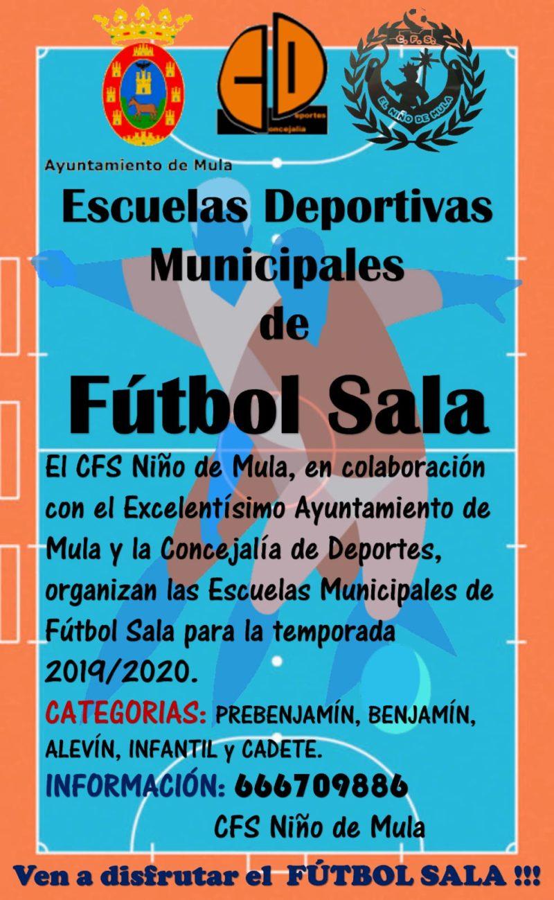 Inscripciones escuelas deportivas futbol sala
